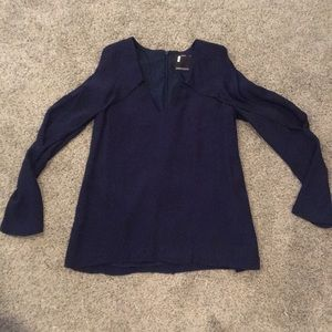 Cut out Navy Blouse